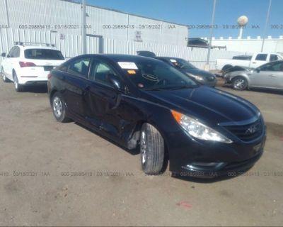 Salvage Dark Blue 2012 Hyundai Sonata