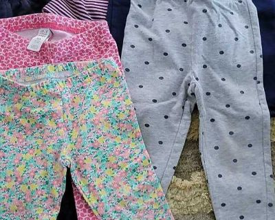 6 toddler size 12 month pants