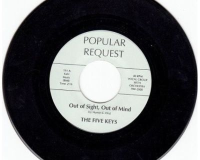 FIVE KEYS ~ Out Of Sight Out Of Mind* M-45*RARE BROWN WAX !