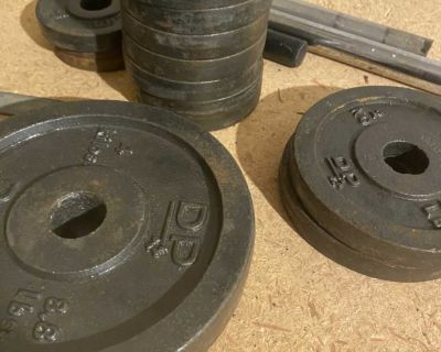 Lot of Weights, bars and end clips