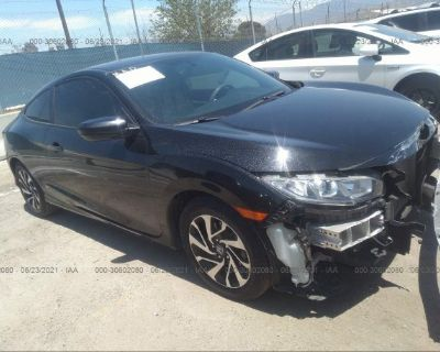 Salvage Black 2016 Honda Civic Coupe