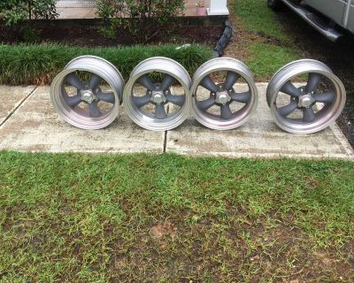 Chevy wheels, tires and new chrome lug nuts