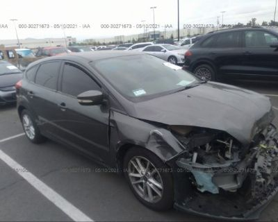 Salvage Gray 2017 Ford Focus