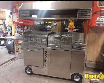 Street Food Large Hot Dog Cart Mobile Food Unit Concession