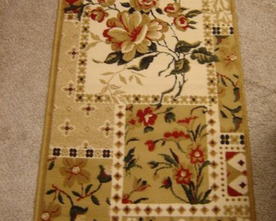 """FLORAL rug runner 2'7"""" X 8'. NEW. ONLY $60."""