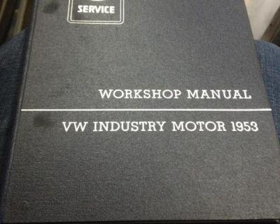1953 vw industry motor workshop manual
