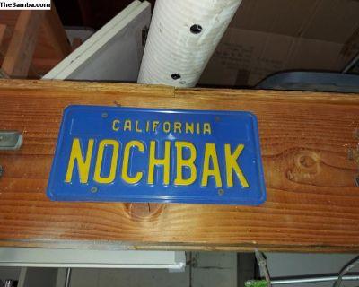Nochbak License Plates Pair