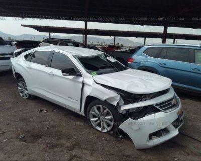 Salvage White 2017 Chevrolet Impala