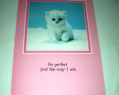 """""""I'm Perfect Just the Way I Am"""" - Vtg Poster - 1987 -  14"""" x 21"""" Unframed"""