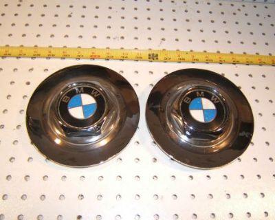 Bmw 88 750il E32 Wheel Chrome Metal Center Oem 2 Caps With Bmw Logo,36.131180076