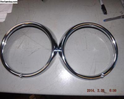 VW Sealed Beam Headlight Trim Rings