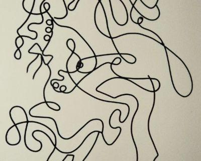 New - Hand-Made Metal Artwork/Wall Characters - Dancing Couple