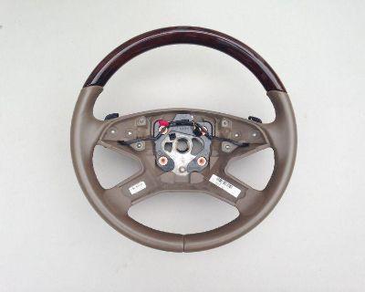 """2010-2011 Mercedes Benz """"ml 350/450/550"""" Wood + Leather Steering Wheel Mbz Oem"""