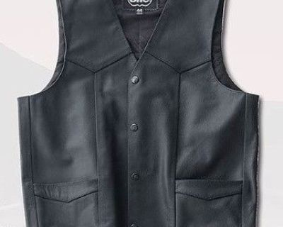 """Highway One Women's """"hollister"""" Leather Vest Size 2xl"""