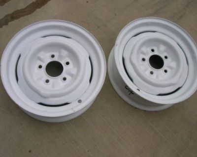 Gm 1954-1962 Corvette Wheels Rim 57 58 59 60 61 62.. Pair (2) ..283 327 2x4 Fi