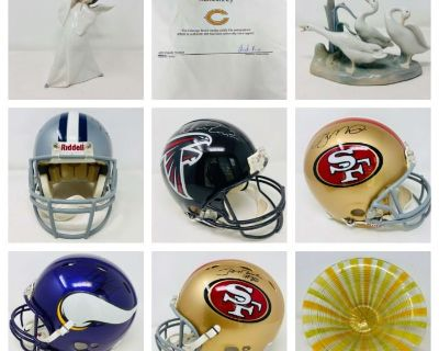 Sports Collectibles, Tiffany, Higgins and Lladro in Naperville