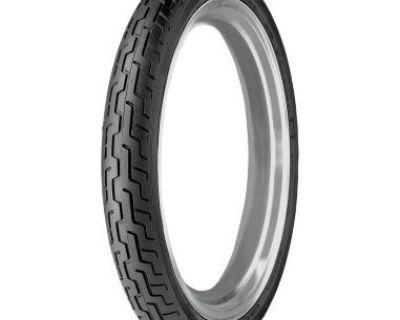 Harley Davidson Series Dunlop D402 Mh90-21 54h, Black, Front Tire