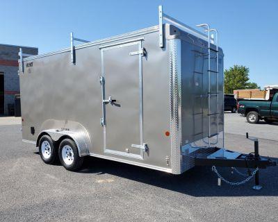 """2021 Car Mate Trailers 7X16 Contractor Trailer PKG2 Double Door +6"""" Trailer - Cargo Harrisburg, PA"""