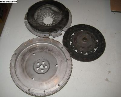 Flywheel ,pressure plate and used clutch T-4 128