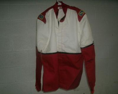 New Fmr 2pc Fire Suit Medium M Imca Race Racing Proban Firesuit Red Sfi 3-2a/1
