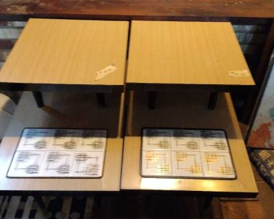 2mid century end tables