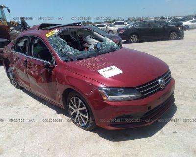 Salvage Burgundy 2017 Volkswagen Jetta