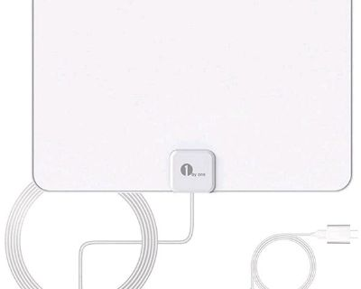 Amplified HD Digital TV Antenna - Support 4K 1080p and All Older TV's - Indoor Smart Switch Ampl...