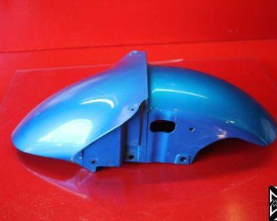 00-02 Kawasaki Ninja Zx6r Blue Front Wheel Fender Cowl Fairing