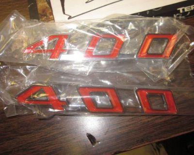 67-69 Firebird 400 Hood Emblems Pair