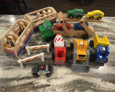 Wooden toys lot