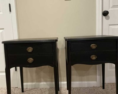 Black side tables, price for both
