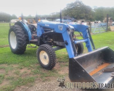 FS NEW HOLLAND TN65 2WD TRACTOR WITH LOADER