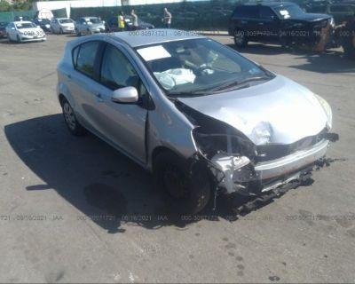 Salvage Silver 2012 Toyota Prius C