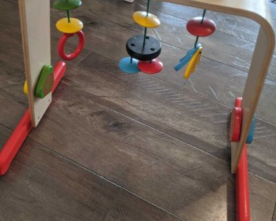 Ikea wooden baby play gym