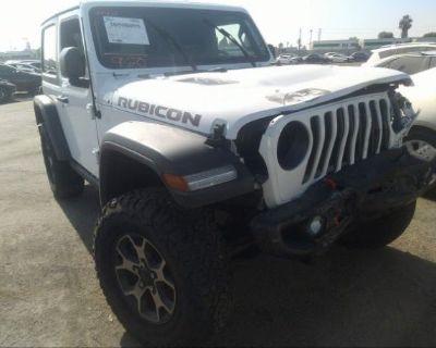 Salvage White 2018 Jeep Wrangler