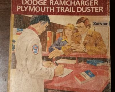 1979 Dodge Ram Truck D W 100 - 400 Ramcharger Trail Duster Shop Service Manual