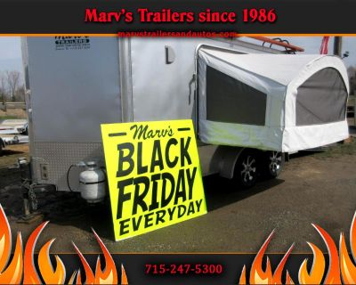 Used 2011 United Trailers XLMTV 7'X14' Converted Into Toy-Hauler/Camper