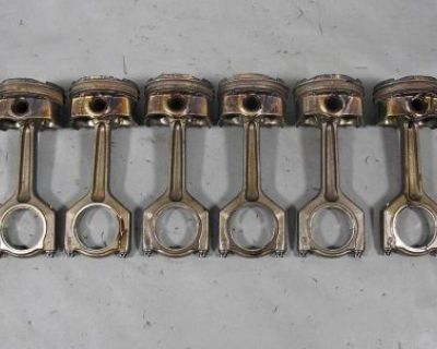 Bmw N54 6-cyl Twin Turbo 3.0l Piston And Connecting Rod Set Of 6 151k 2008-2010