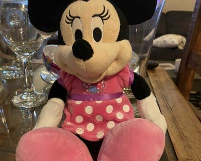 Pink Minnie mouse plush