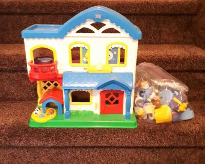 Fisher Price Doll House and Pieces