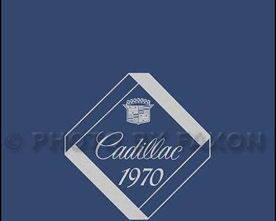 1970 Cadillac Optional Specifications Book 70 Deville Eldorado Calais Fleetwood