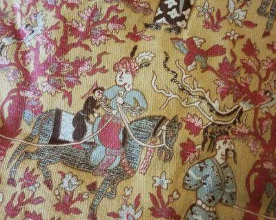 Custom Queen Bedspread + bedskirt