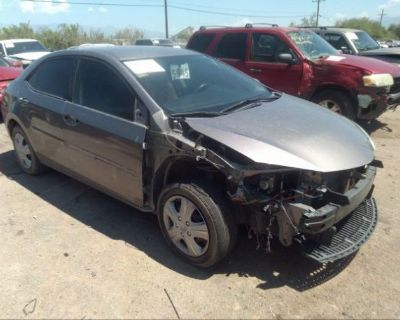 Salvage Gray 2016 Toyota Corolla