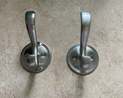 Two wall hooks