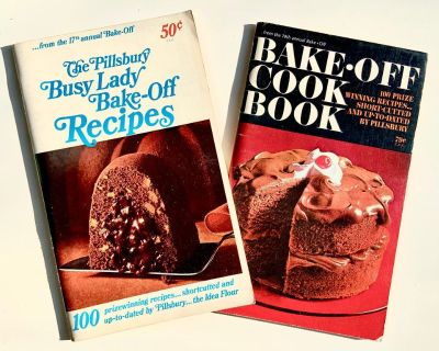 Pillsbury 17th & 18th Annual Bake Off Cook Books ((Mail It?-Paypal it!-Click Link)