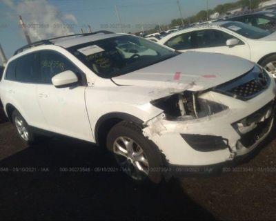 Salvage White 2012 Mazda Cx-9