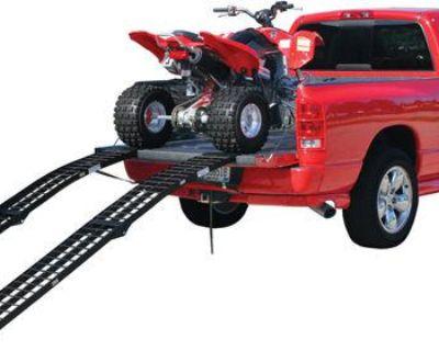 10' Black Widow Arched Folding Aluminum Atv-lawn Mower Ramps-2000 # (bw-12012-2)