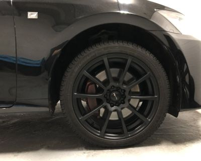 Winter tire set. Michelin X-Ice Snow tires 245/40/R18 and Focal 18 inch rim.