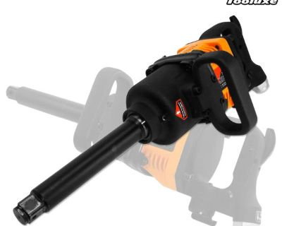 "Airluxe 1"" Industrial Air Compressor Impact Gun Wrench 1,900 Ft/lb Long Shank"