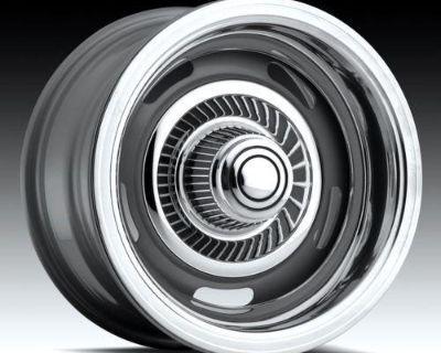 """15"""" Rally Silver Wheels Rims Chevy El Camino"""